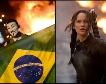 """Faça o teste: É """"Jogos Vorazes"""" ou """"Protestos no Brasil""""?"""
