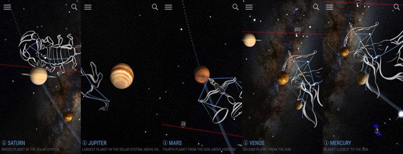 Estrelas à noite app