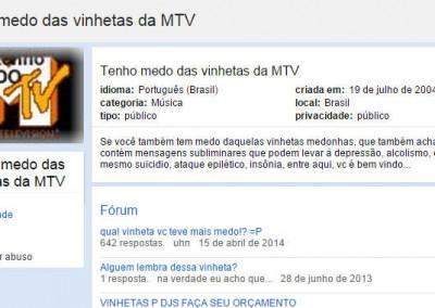 Tenho medo das vinhetas da MTV