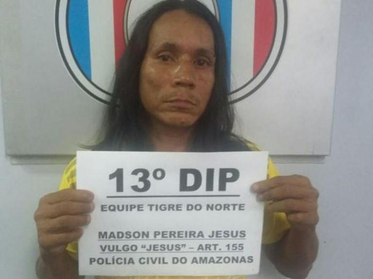 Jesus é preso na Cidade de Deus por furtar Igrejas, em Manaus