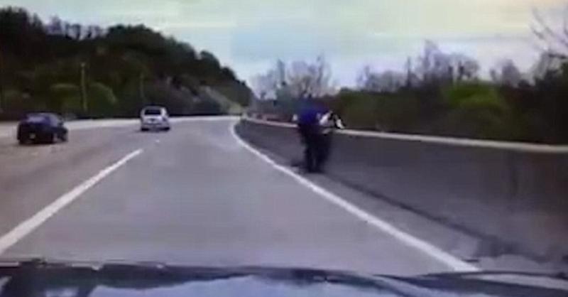 Vídeo flagra policial impedindo homem de se jogar de ponte