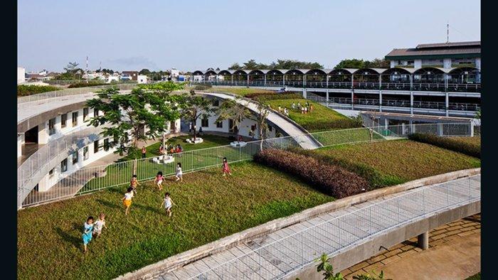 Farming Kindergarten, Vo Trong Nghia Architects (Bien Hoa, Vietnã)