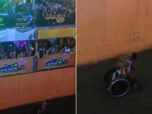 Ronaldinho Gaúcho lança maço de dinheiro a cadeirante, em Fortaleza