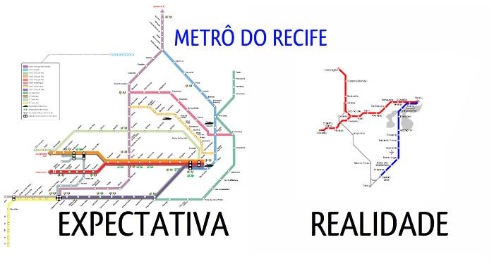 O metrô dos sonhos do pernambucano