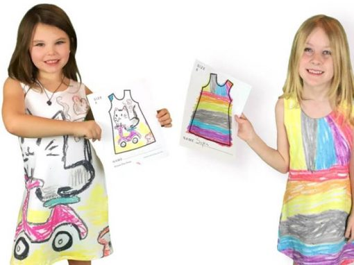 Site faz vestidos com estampas desenhadas por crianças