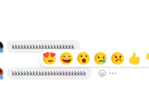 Facebook libera reações em conversas do Messenger