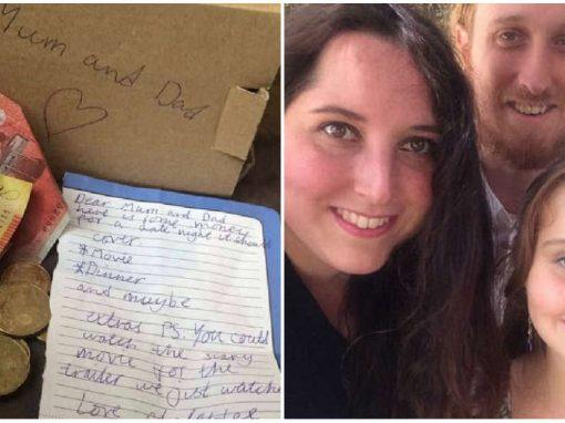 """Menina de 10 anos emociona ao quebrar """"porquinho"""" e pagar jantar para os pais"""