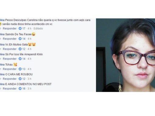 Jovem é assaltada e ladrão se desculpa em redes sociais da vítima