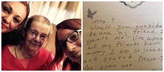 Idosa escreve carta perguntando se vizinhos querem ser seus amigos