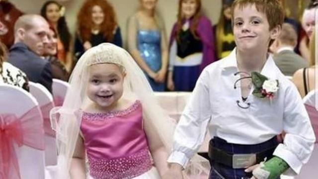 Morre de câncer garotinha de 5 anos que realizou o sonho de casar com o melhor amigo