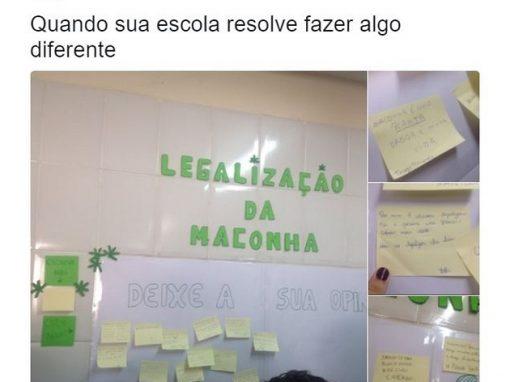 Escola abre discussão sobre legalização da maconha e viraliza