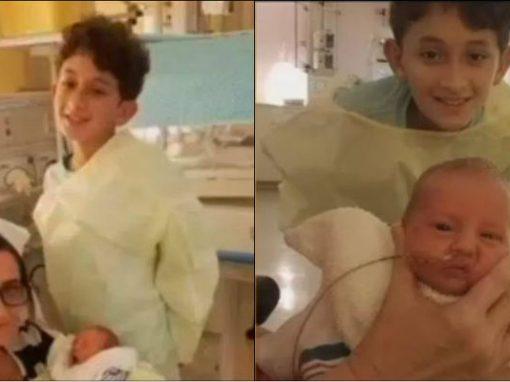 Menino de 10 anos ajuda mãe a dar à luz em casa