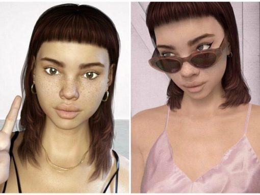 """Estrela do Instagram, boneca digital faz até """"merchan"""""""