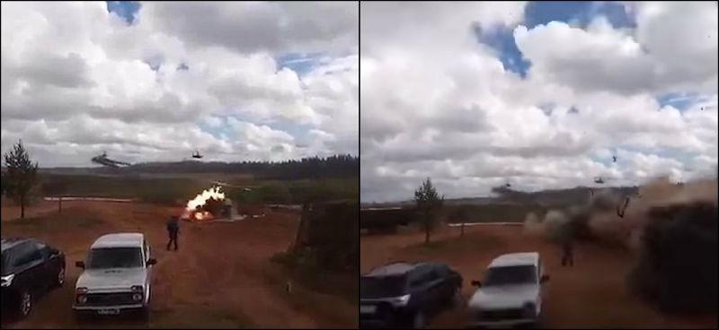 Helicóptero russo lança míssil acidental em plateia em Jogos de Guerra