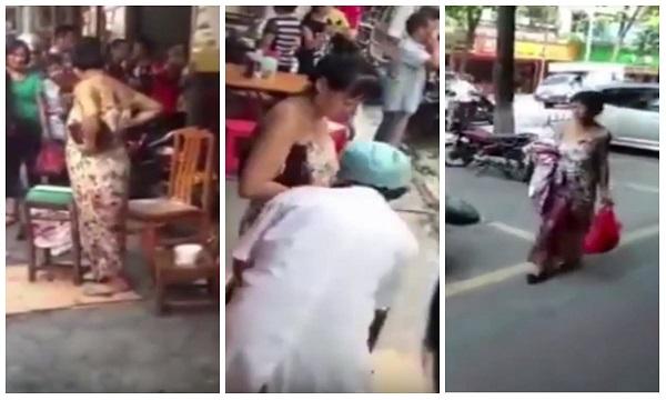 Mulher dá à luz na rua e sai andando normalmente com bebê