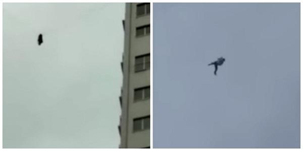 Homem tenta fugir de hotel usando cabos de telefonia a 60m do chão