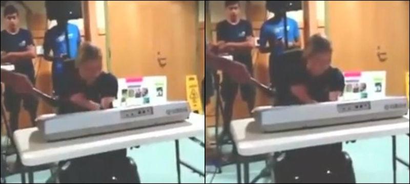 Após ter mãos amputadas, adolescente realiza sonho de tocar piano