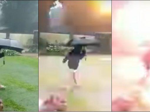 """Raio cai ao lado de menino, que """"por um milagre"""" não sofre ferimentos"""