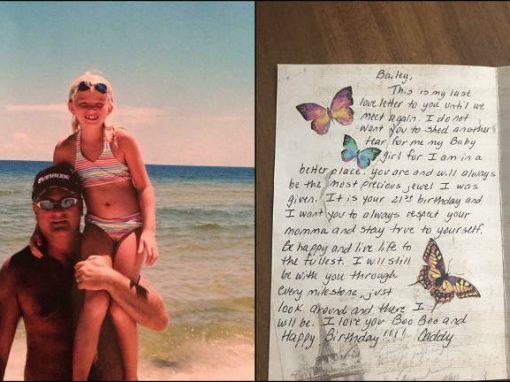 A cada aniversário, jovem recebe cartas de pai morto até os 21 anos