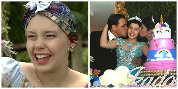 Voluntários organizam festa de 15 anos para garota com câncer