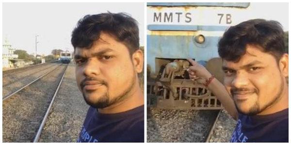 Indiano é atingido por trem enquanto fazia selfie perto dos trilhos